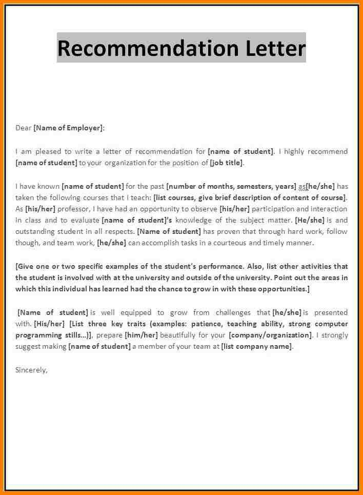 10+ letter of recommendation format for job | monthly bills template
