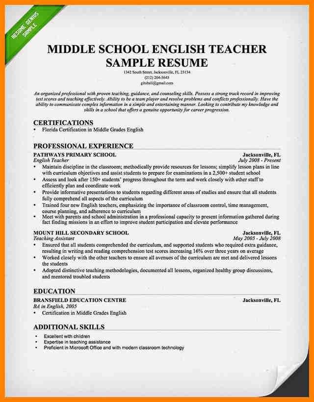 5+ sample resume format for teachers | grocery-clerk