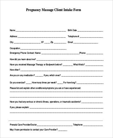 marielles client intake form. client information form template ...