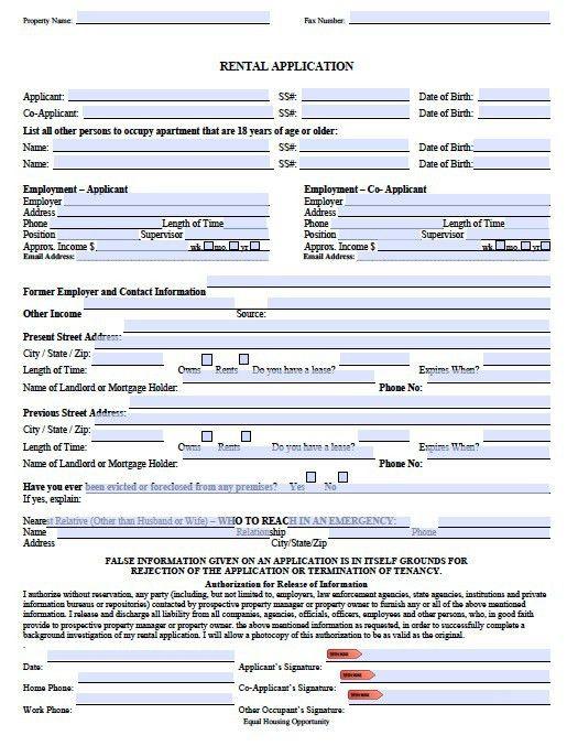Free Missouri Rental Application Form – PDF Template