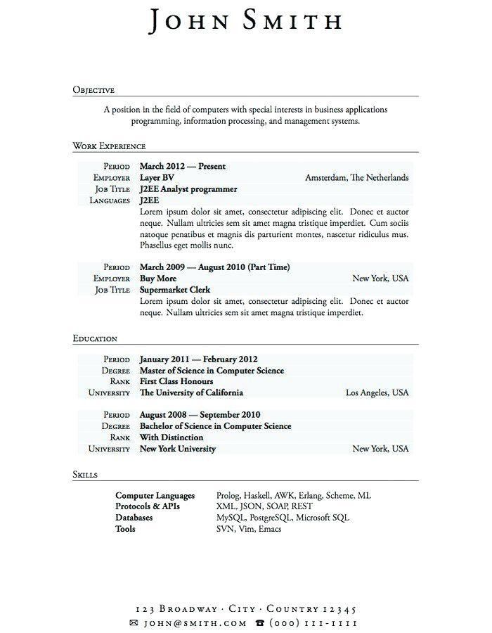 Sample Resume For Graduate School Application Objective - Templates