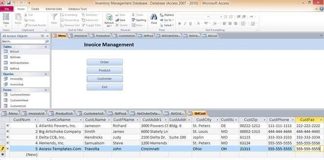 Download Inventory Microsoft Access Templates and Access Database ...
