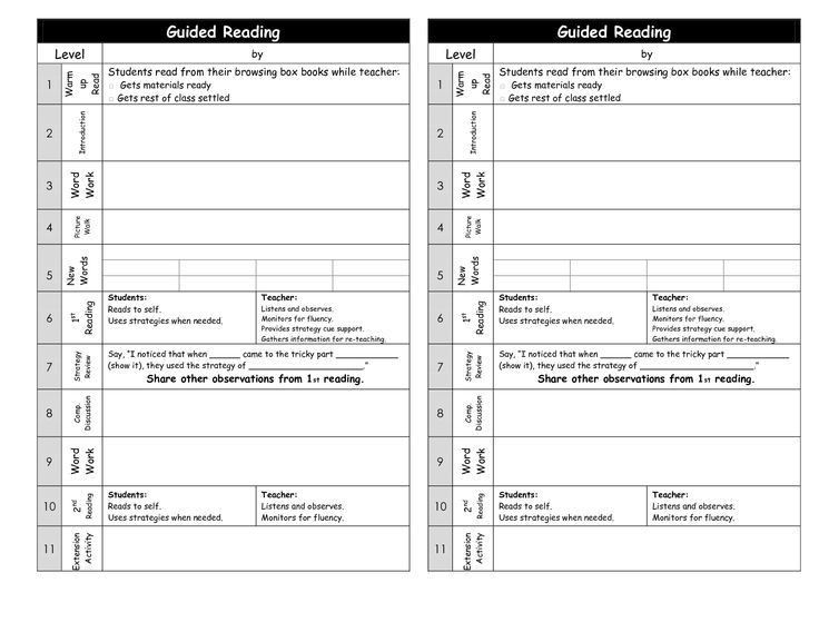 The 25+ best Guided reading template ideas on Pinterest | Guided ...