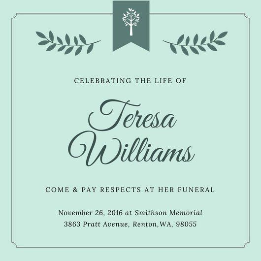 Funeral Invitation Templates - Canva