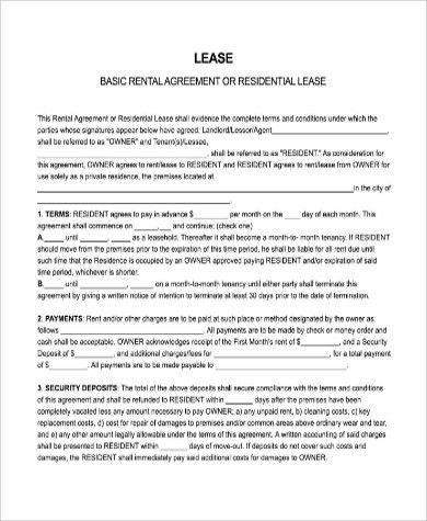 Sample Free Lease Agreement Form - 9+ Examples in PDF, Word