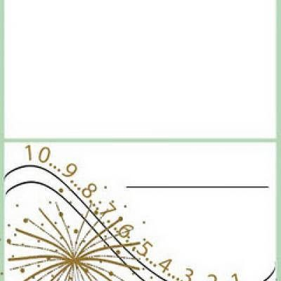 New Years Place Cards {Place Card Template} | Tip Junkie