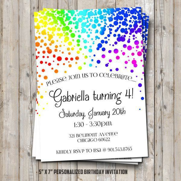 Best 25+ Rainbow birthday invitations ideas only on Pinterest ...