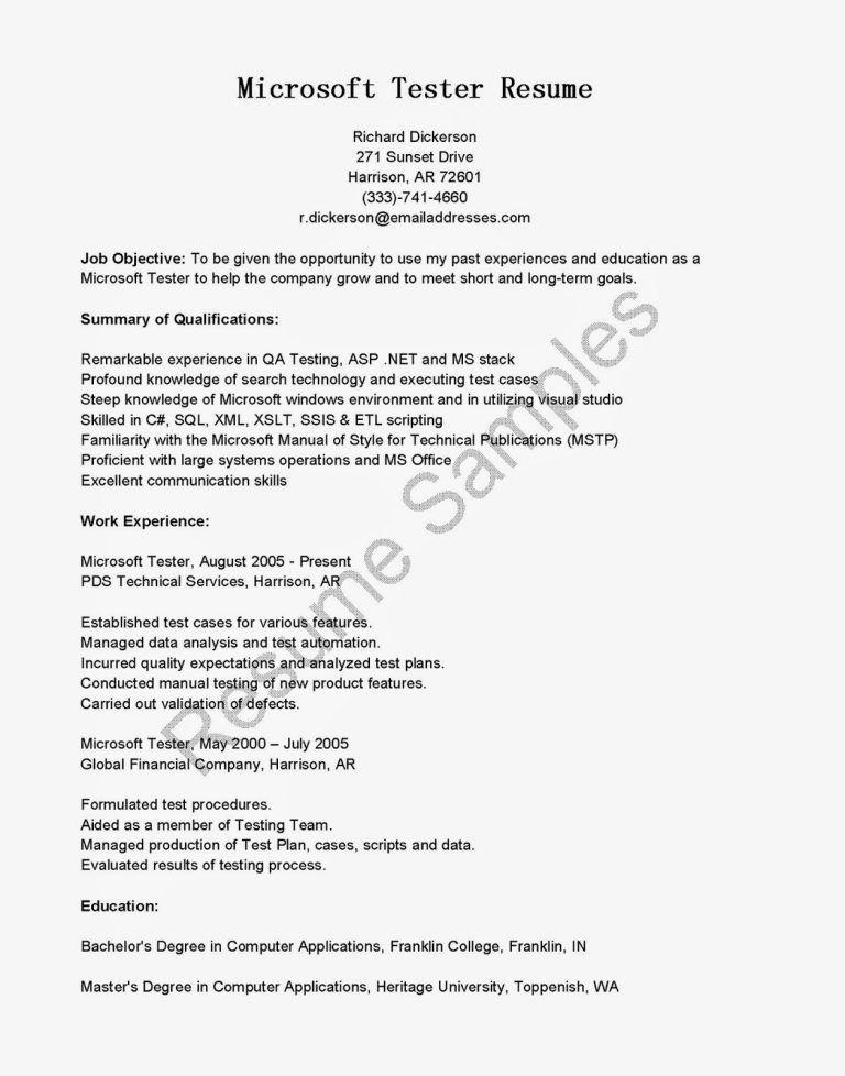 Qa Game Tester Resume Template - Ecordura.com