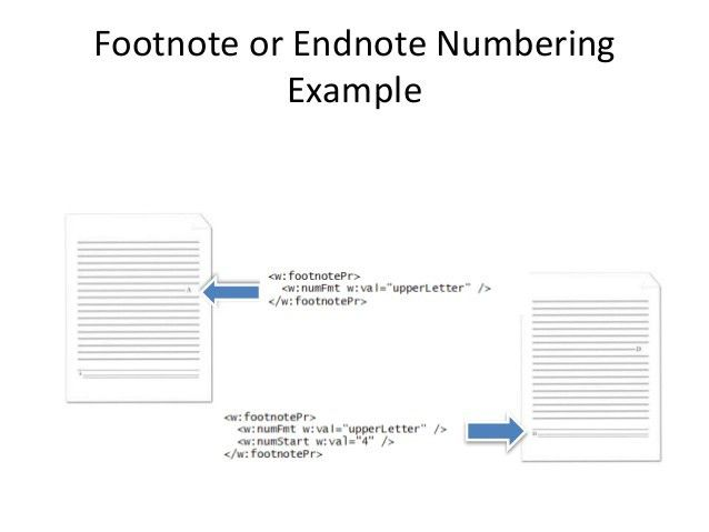 10 wordprocessing ml subject - footnotes and endnotes