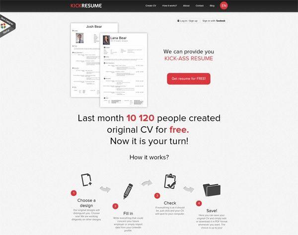 10 Online Tools To Create Impressive Resumes - Hongkiat