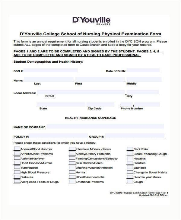 7+ Nursing Assessment Form Samples - Free Sample, Example, Format ...
