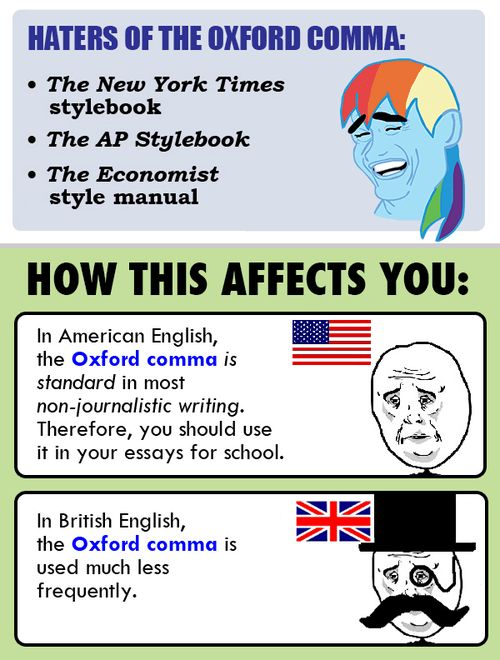 The YUNiversity - Yo, Grammar: What's up with the Oxford comma?