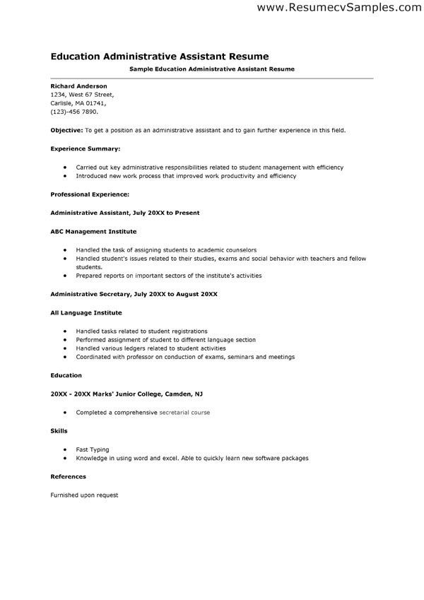Education Administration Cover Letter
