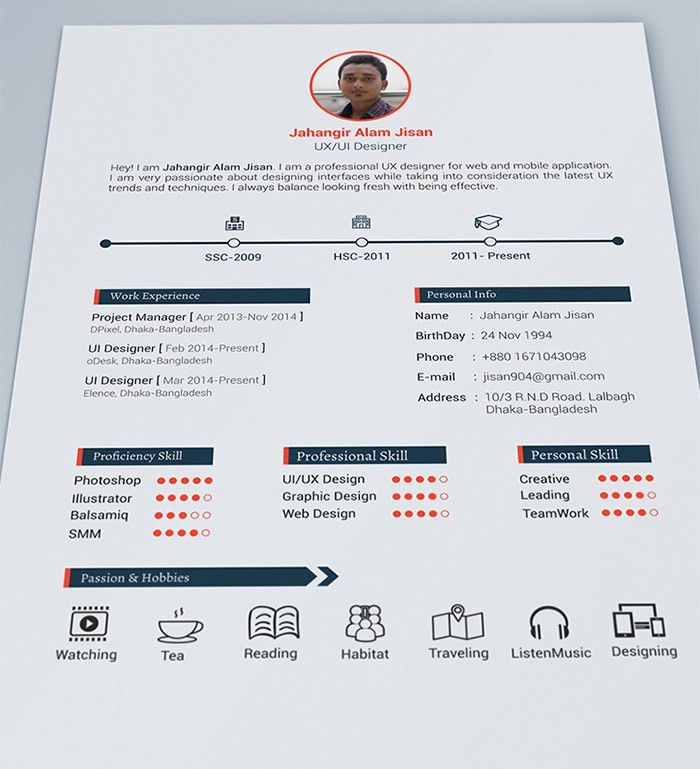 30 Free & Beautiful Resume Templates To Download | Free ...