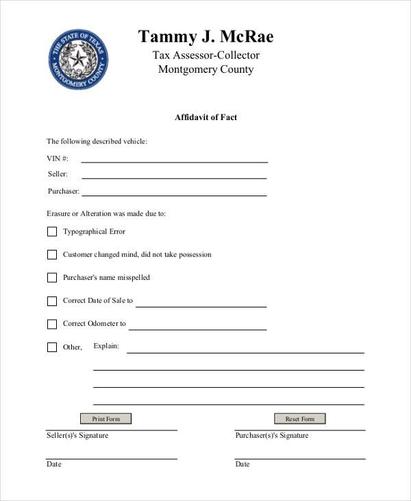 Sample General Affidavit Form - 10+ Free Documents in PDF