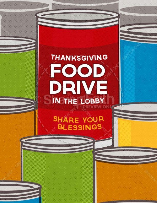 Thanksgiving Food Drive Religious Flyer Template | Flyer Templates