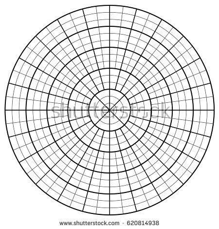 Blank Polar Graph Paper Protractor Pie Stock Vector 620814950 ...
