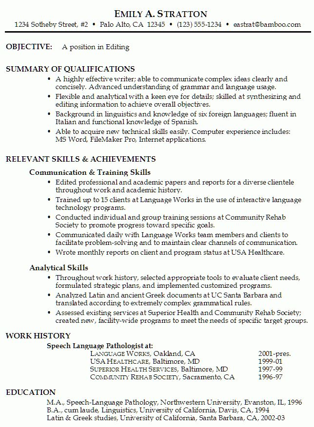 Functional Resume Example for Editing - Susan Ireland