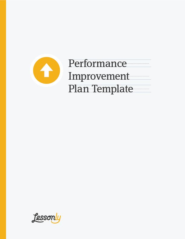 FREE Performance Improvement Plan Template - Lessonly