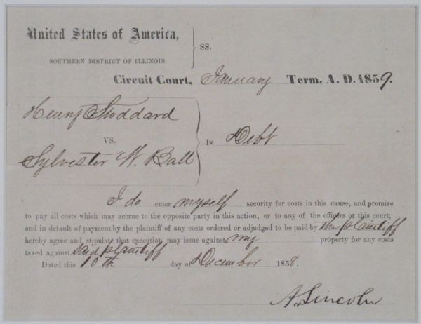 Lot Detail - ABRAHAM LINCOLN (1809-1865) DOCUMENT SIGNED ...