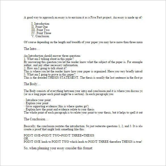 Basic essay template