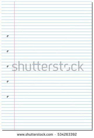 Notepad School Paper Vector Stock Vector 381535315 - Shutterstock