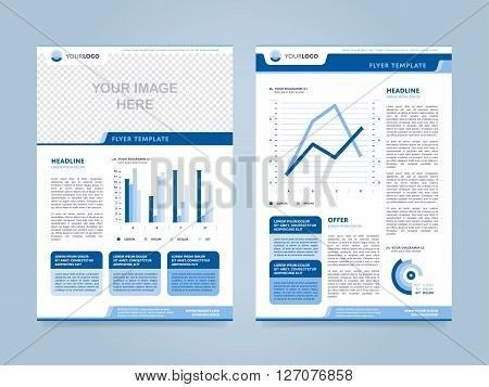 Brochure layout. Brochure design template. Leaflet layout. Cover ...