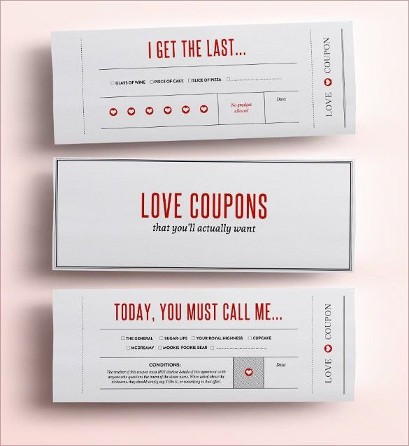 21+ Love Coupon Templates – Free Sample, Example, Format Download ...