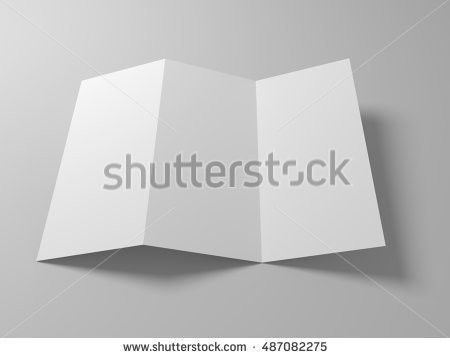 Paper Blank Brochure Template Ready Text Stock Vector 86499082 ...