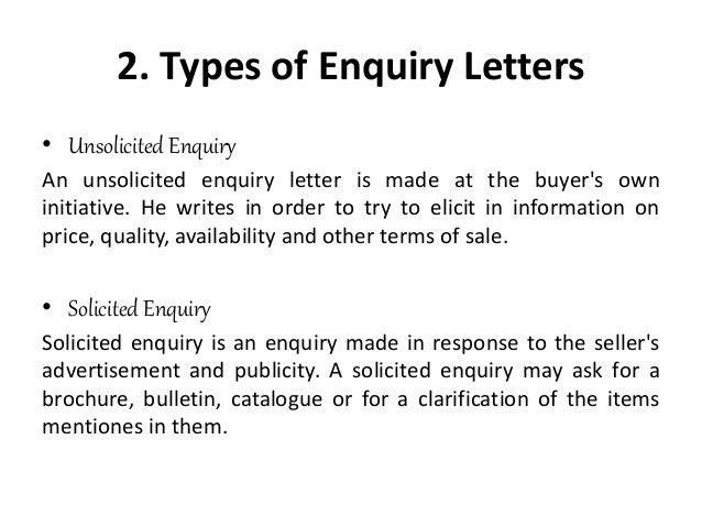 Business Letter Using Direct Approach - Solicited