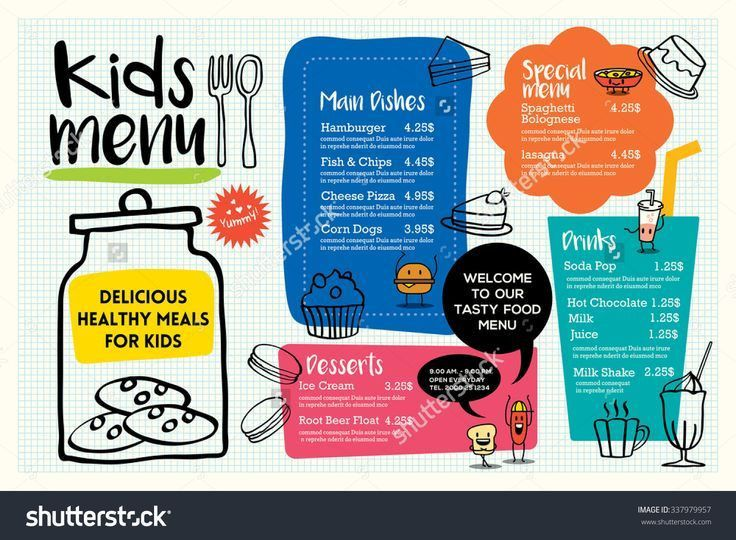7 best menus images on Pinterest | Kids menu, Restaurant menu ...