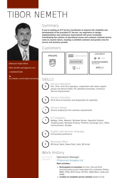 Operations Manager Resume samples - VisualCV resume samples database