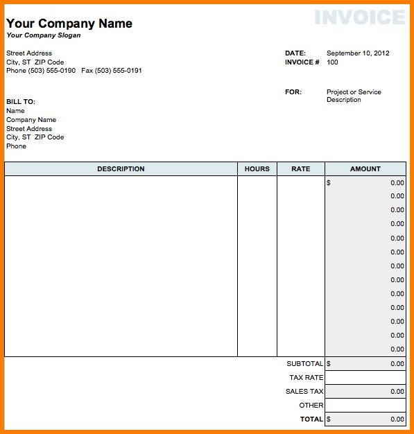 7+ Microsoft Invoice Templates | Receipt Templates