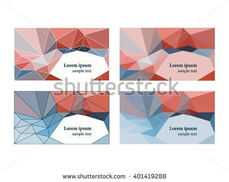 Set 2 Business Card Template Name Stock Vector 401411986 ...