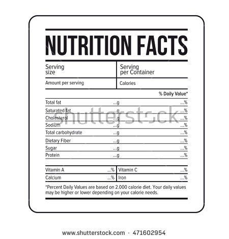 Nutrition Label Stock Images, Royalty-Free Images & Vectors ...