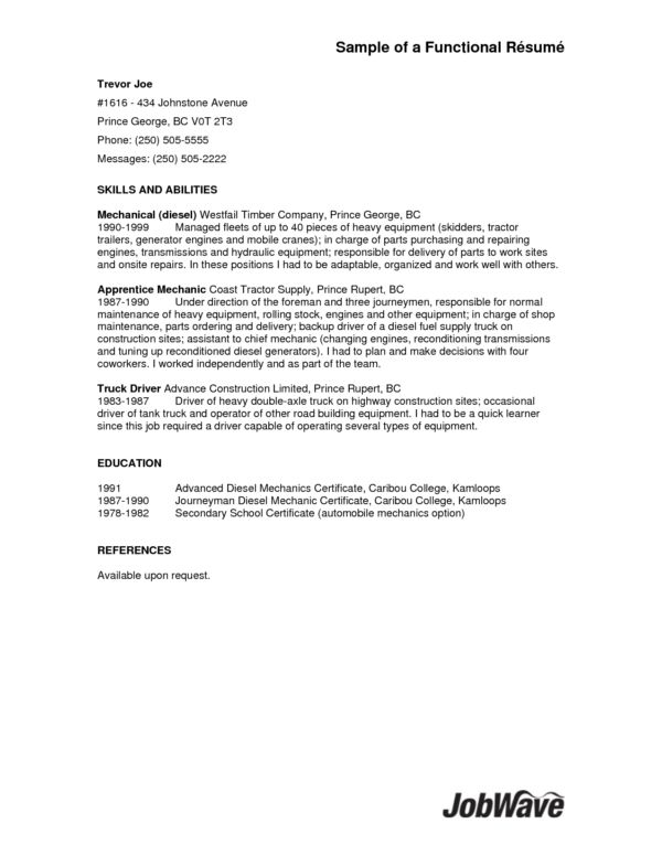Simple Truck Driver Resume File Emphasizing Skills and Abilities ...