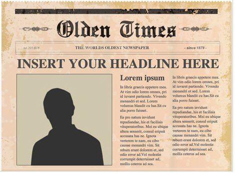 Newspaper Template Free | eknom-jo