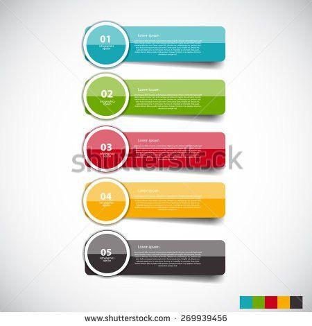 Table Schedule Design Template 5 Row Stock Vector 376584976 ...