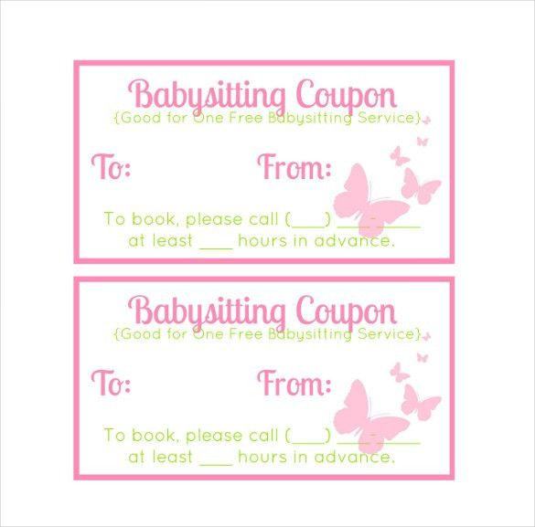10+ Baby Sitting Coupon Templates – Free Sample, Example, Format ...