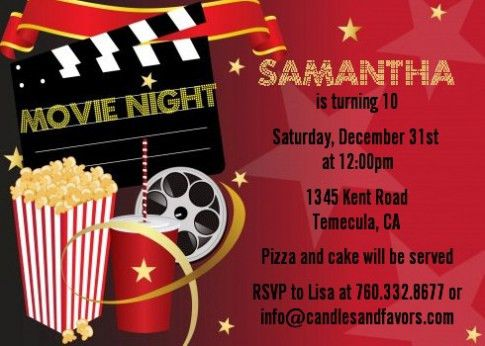 Movie Birthday Party Invitations Which Viral In 2017 | THEWHIPPER.COM