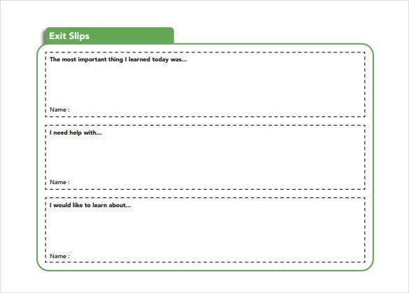 Slip Template – 13+ Free Word, Excel, PDF Documents Download ...