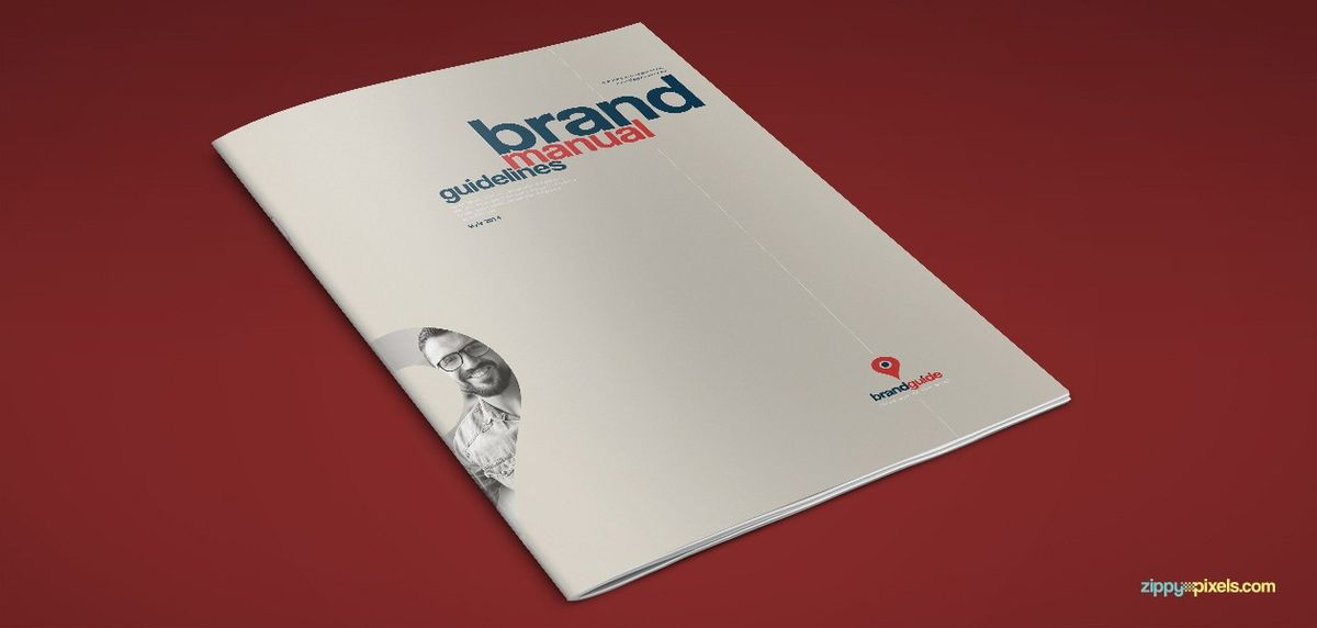 Typographic Art – Brand Book Template - A5 Vertical, Print Ready ...