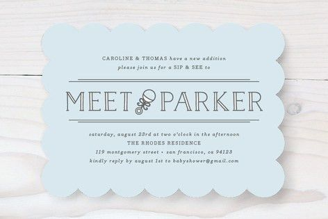 Meet + Greet Baby Shower Invitations by Bourne Pap... | Minted