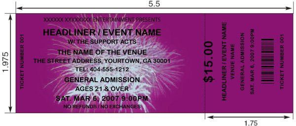 9 Best Images of Create Your Own Ticket Templates - Make Your Own ...