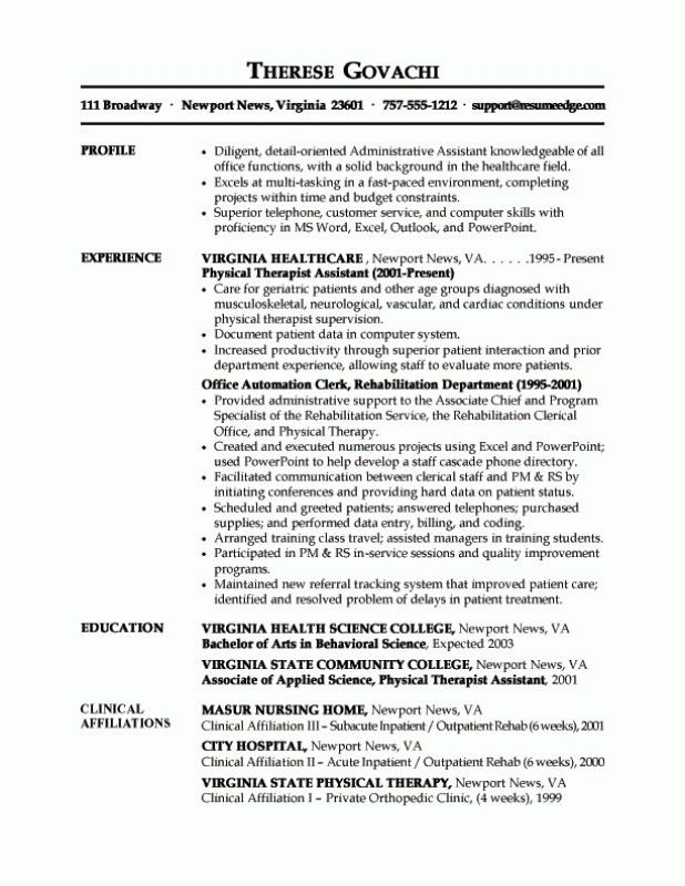 Administrative Assistant Resume Objective. Examples Of Resumes ...