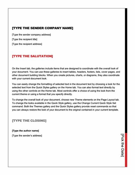 Business letter (Essential design) - Office Templates