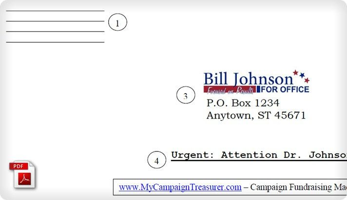 Political Campaign Fundraising Letter Reply Envelope Example ...