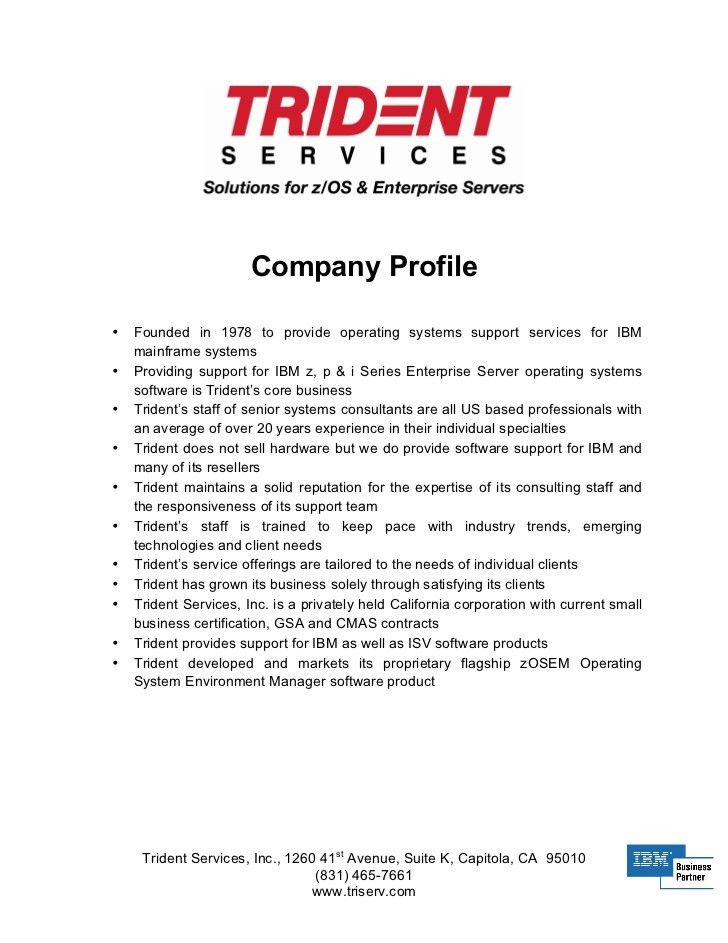 COMPANY PROFILE SAMPLE - InterestingPage