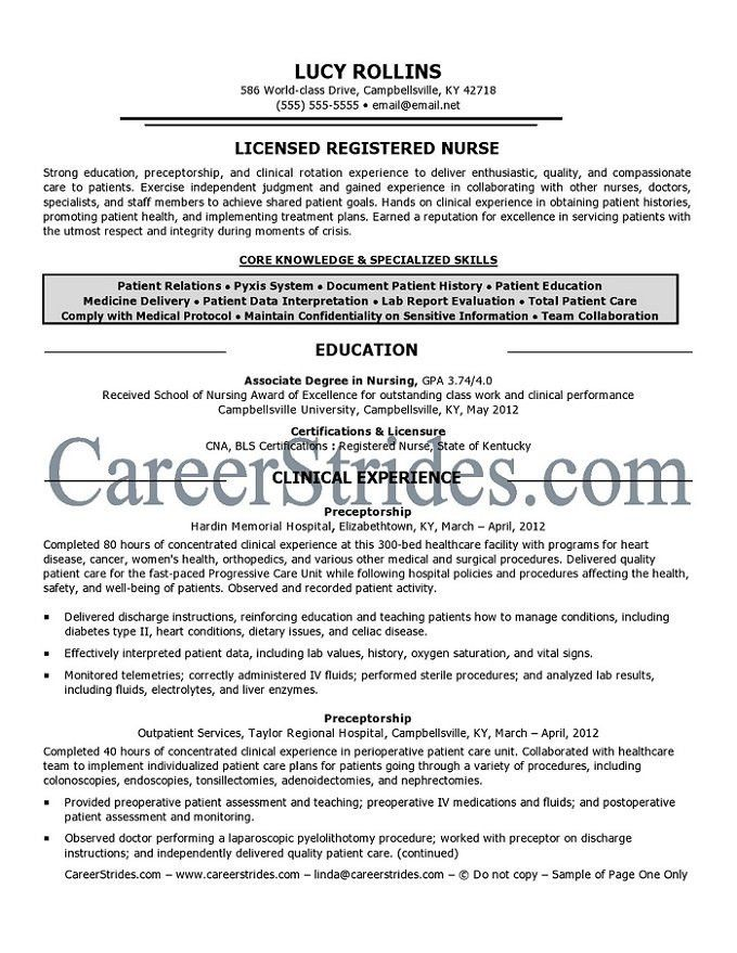 Lpn Resume Examples. Examples Of Lpn Resumes New Graduate ...