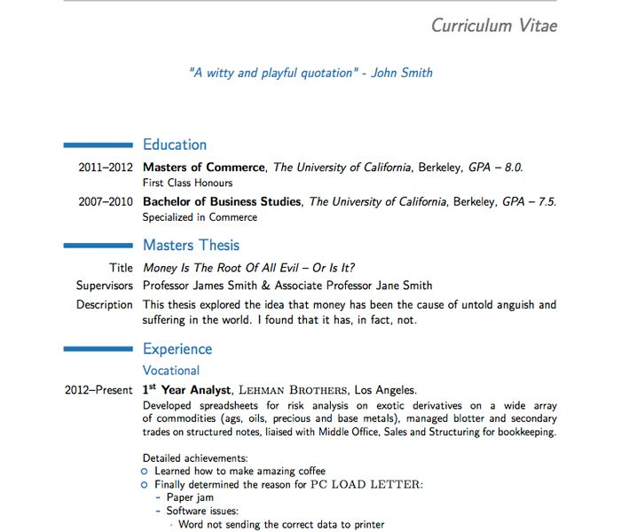 Extremely Creative Latex Cover Letter Template 14 LaTeX Templates ...